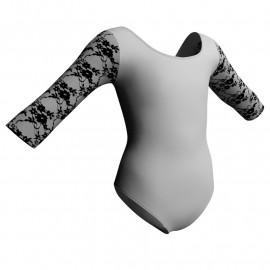 Body danza maniche 3/4 con inserto belen pro PLB406T
