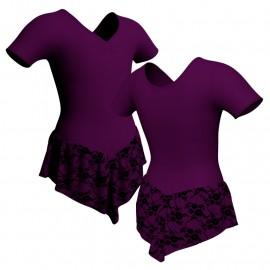 Body danza con gonnellino in belen pro manica corta SK714LCB1008