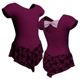 Body danza con gonnellino in belen pro maniche aletta SK714LCB210